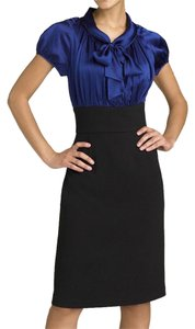 Suzi Chin Silk Pencil Tie Black Dress