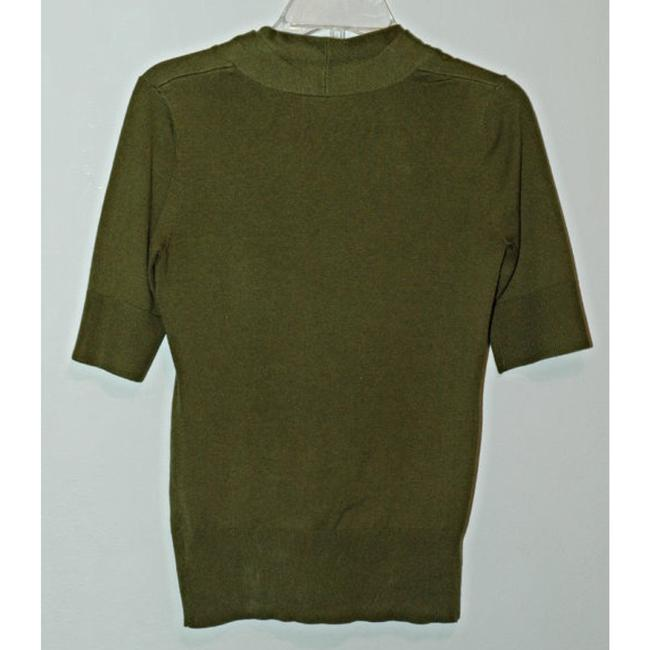 Classiques Entier Silk Wool Cashmere Olive Ruffle Sweater Image 1