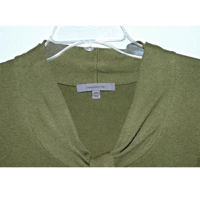 Classiques Entier Silk Wool Cashmere Olive Ruffle Sweater Image 2