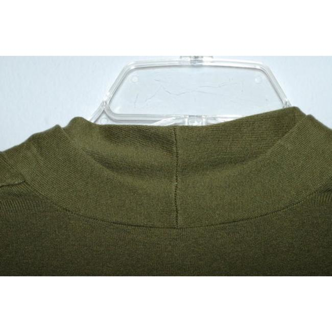 Classiques Entier Silk Wool Cashmere Olive Ruffle Sweater Image 3