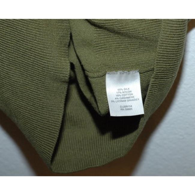 Classiques Entier Silk Wool Cashmere Olive Ruffle Sweater Image 4