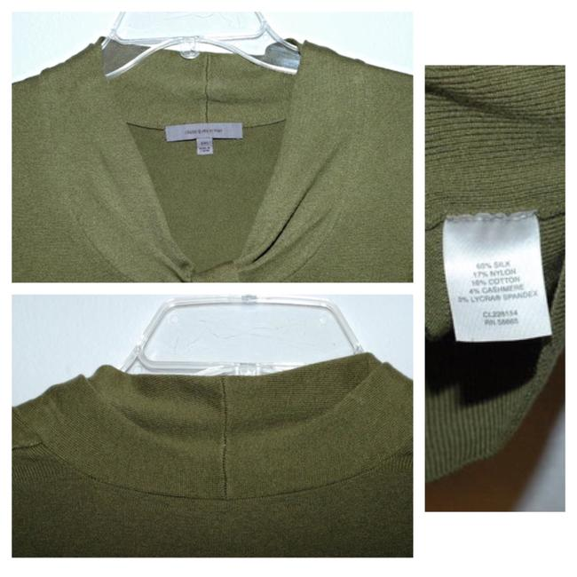 Classiques Entier Silk Wool Cashmere Olive Ruffle Sweater Image 5