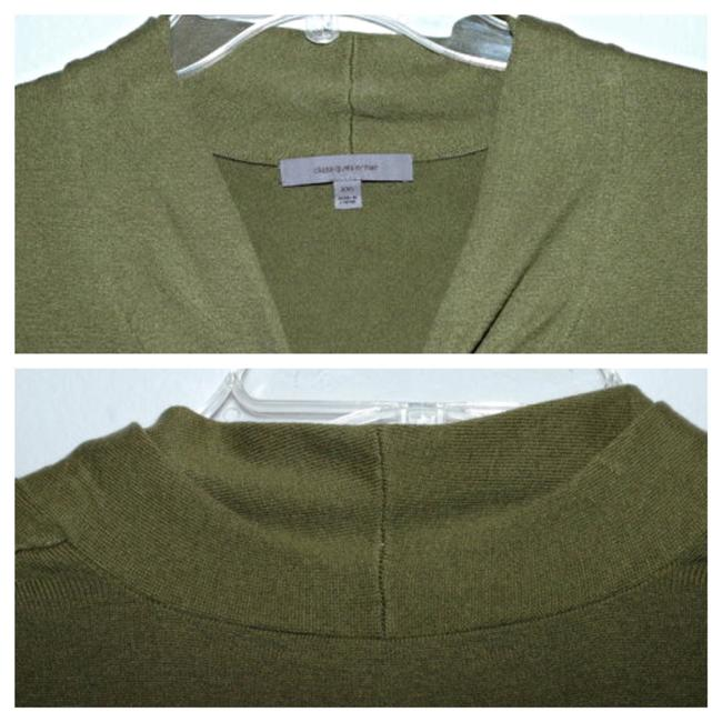 Classiques Entier Silk Wool Cashmere Olive Ruffle Sweater Image 6