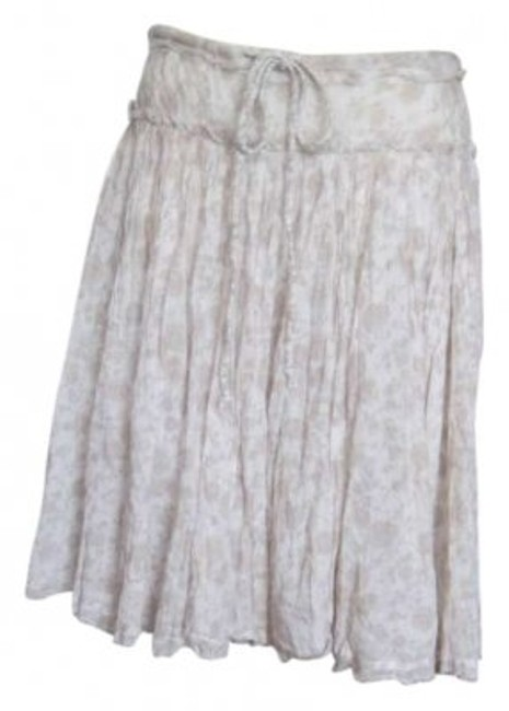 Item - Cream Bohemian Drawstring Skirt Size 6 (S, 28)