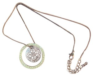 Gold Double Charm Necklace