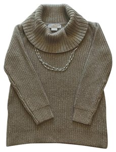 Michael Kors Cotton Cowl Turtleneck Ribbed Sweater