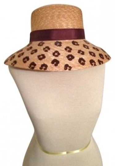 Preload https://item3.tradesy.com/images/liz-claiborne-light-and-dark-brown-hand-painted-fashion-hat-152267-0-0.jpg?width=440&height=440