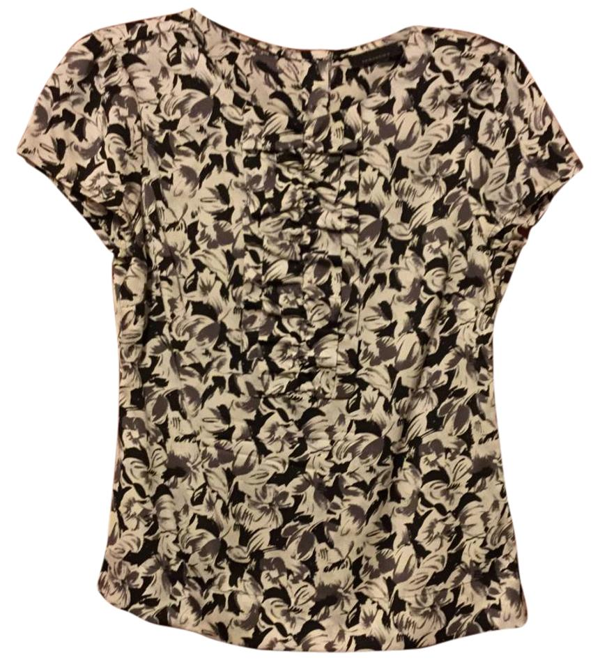 19be1f119fda1 Black And White Ruffle Front Blouse « Alzheimer's Network of Oregon
