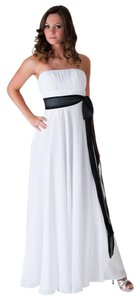 Strapless Long Pleated Bust Sash Formal Wedding Dress