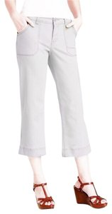 Jag Jeans Cargo Cropped Pockets Capris White