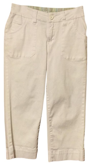 Jag Jeans Cargo Cropped Pockets Capris White Image 2