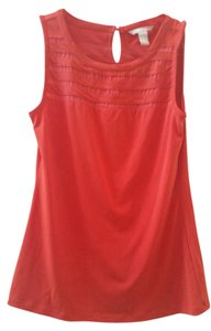 Banana Republic Sleeveless Sheer Top Orange