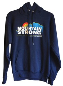 Hanes NWOT S Navy Blue Colorado Mountain Strong Hoodie