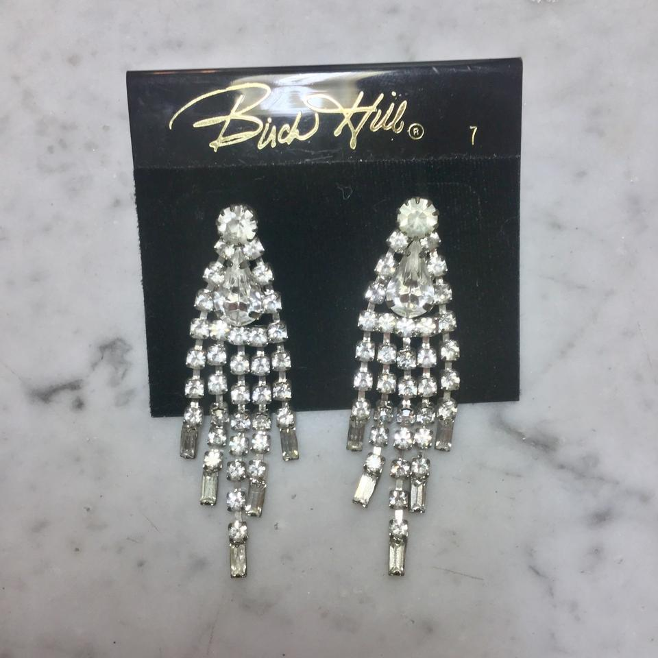 Silver vintage chandelier dangle earrings tradesy bud hill vintage chandelier dangle earrings aloadofball Image collections