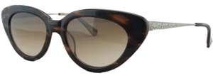 Vera Wang Vera Wang Brown Cateye Embellished Sunglasses