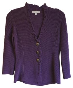 Classiques Entier Cotton Wool Metallic Hardware V-neck Cardigan