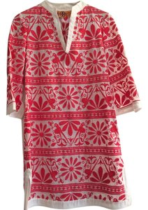 Tory Burch short dress Red and white on Tradesy