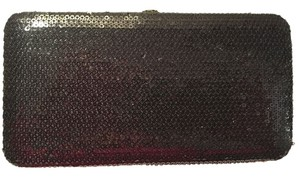 Unknown Black Sequin Clutch Wallet