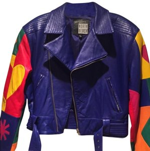 North Beach Leather Royal blue Leather Jacket