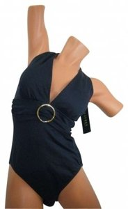 Ralph Lauren SWIMSUIT 12 RALPH LAUREN NAVY PLUNGE