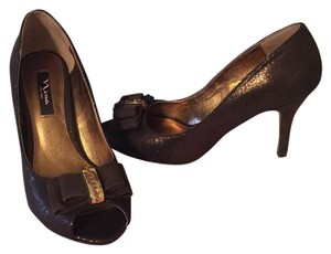 Nina Frosti Bronze (brown and gold) Pumps