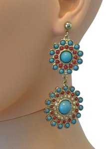 Double medallion earrings