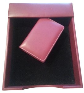 Levenger Levenger Red Leather In box/Letter Tray and Card Box