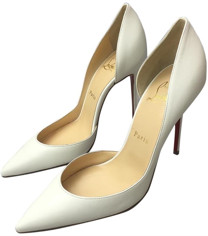 64ebf76c199 christian louboutin iriza 100mm leather dorsay pointed toe pumps white