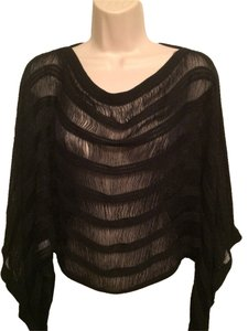Bar III Sheer Dolman Top Black