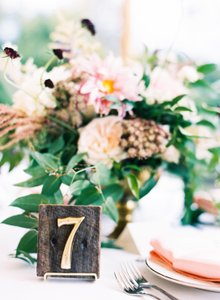 Rustic Reclaimed Wood Tablenumbers
