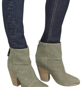 Rag & Bone Olive Canvas Boots