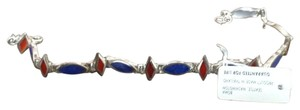 Boma Never Worn Blue/Red Sterling Silver Bracelet