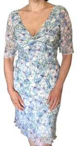 Diane von Furstenberg short dress Pale blue multi Spring Romantic Graduation Classic Silk on Tradesy