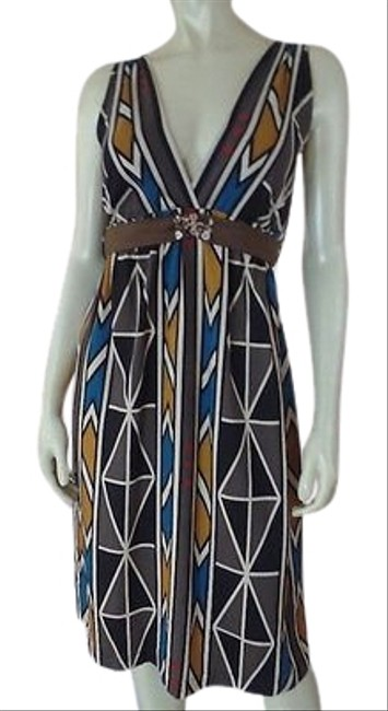 Item - Anthropologie Dress Petite Silk Pullover Multicolor Abstract Hot