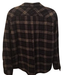 Theory Button Down Shirt Plaid