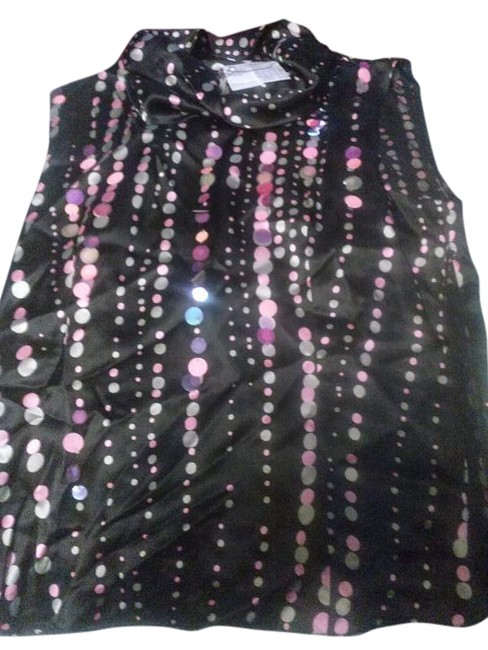 Preload https://img-static.tradesy.com/item/15229897/max-mara-black-multiple-sportmax-silk-sleeveless-with-dots-and-sparkly-circles-blouse-size-8-m-0-1-650-650.jpg