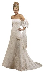 Maggie Sottero Ivory Lace Satin Grace - J857 Tall Traditional Dress Size 16 (XL, Plus 0x)