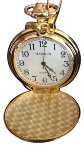 Never Used Gold Pocket Watch