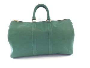 Louis Vuitton Keepall 45 Borneo Green Travel Bag