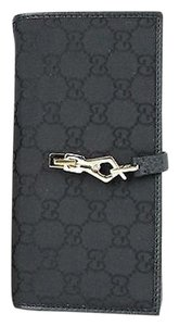 Gucci GUCCI Gg Nylon Clutch Coin Wallet Black 150397 1000