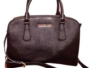 Michael Kors Reese Large Reese Reese Saffiano Leather Large Satchel in BLACK