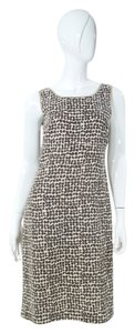 Max Mara short dress Print Brown Cream on Tradesy