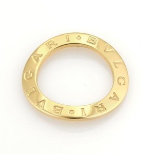 BVLGARI Bulgari Bvlgari Signature 18k Yellow Gold Open Circle Pendant