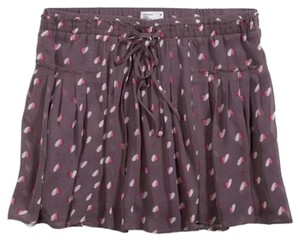 American Eagle Outfitters Pleated Heart Print Mini Skirt Rose