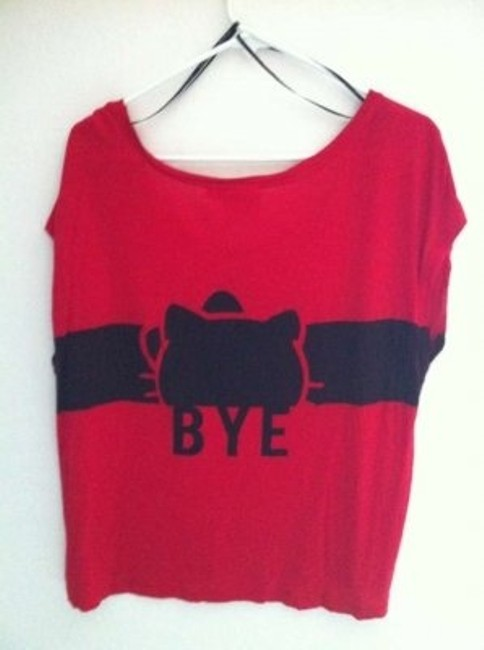 Forever 21 T Shirt Red and Black