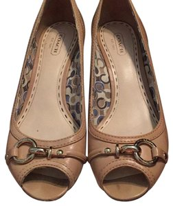 Coach Nude Wedges