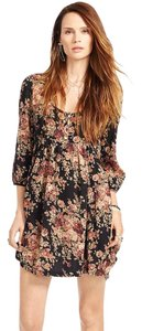 Denim & Supply short dress Black multi Babydoll Vintage Floral Print 3/4 Sleeves Empire Style on Tradesy