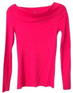 Three Dots T Shirt Fuscia