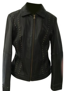Uniform John Paul Richard Brass Studs Zipper Small Butter Soft Collar Full Front Zip Leather Jacket