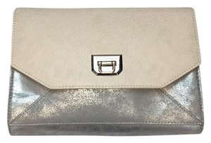 BCBGeneration Silver/cream Clutch